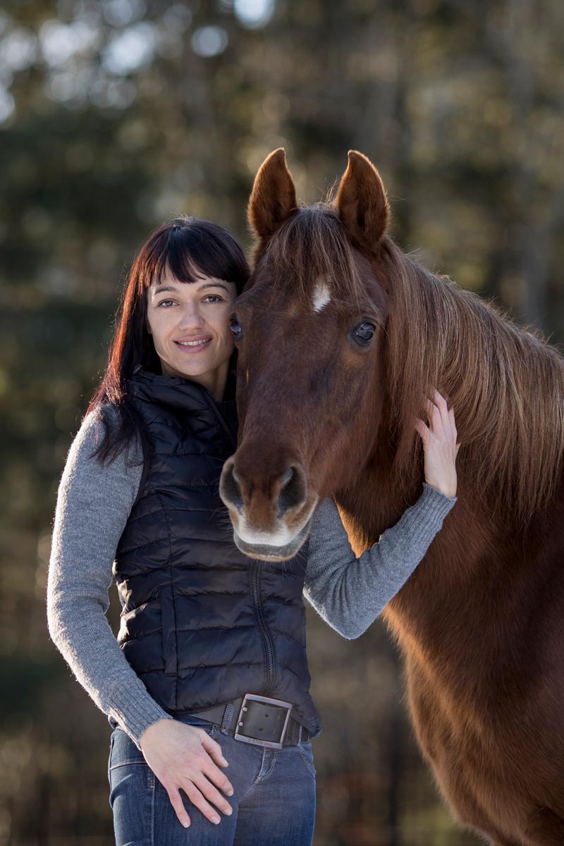 Julia Moll Pferdefotografin mit ihrem Pferd